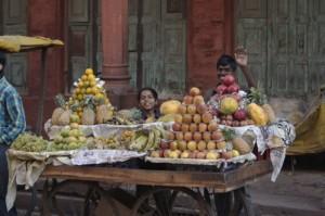 Fruit on display in market