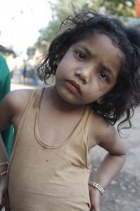 Meisje in Varanasi